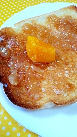 ✿冷凍マンゴーと桃ジャムトースト❤