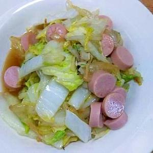 白菜魚肉ソーセージ炒め/ナンプラー酢