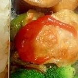 弁当用:ピーマンの肉詰め(冷凍保存から)