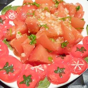 擦りおろし柚子入り☆塩麹トマトサラダ