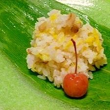 菊と胡桃のご飯
