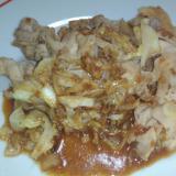 豚肉とキャベツのみそ炒め。