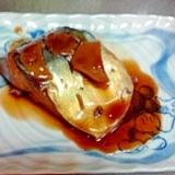 甘辛く煮付けた鯖の生姜煮♪