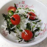 大根とプチトマトの和風サラダ