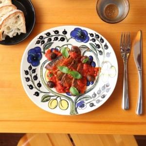 秋刀魚のソテーとトマトソースの軽い煮込み