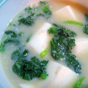 えのき氷入り!☆ほうれん草と豆腐の味噌汁☆