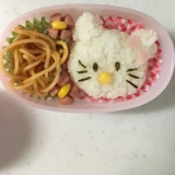 キティちゃんのナポリタンお弁当(^○^)