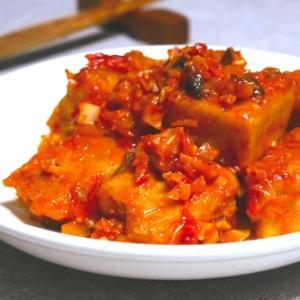 ヴィーガン仕様☆高野豆腐のエビチリ風
