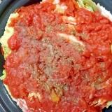 トマト味で簡単!ミルフィーユ鍋