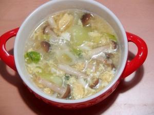 野菜たっぷりの、中華スープ♪(2)