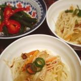 余った素麺で ツナの素麺チャンプルー