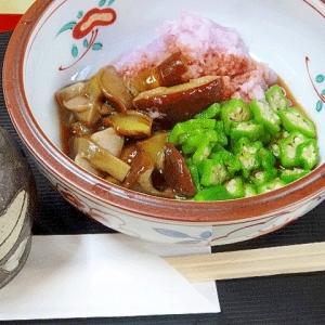 秋の旬菜☆ 「アミタケの辛味大根和え」