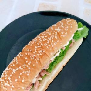 コストコホットドッグパンで作るツナサンド