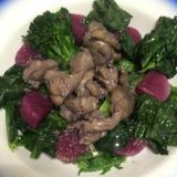 鶏肉のマーマレードソース煮込み 蒸し野菜を添えて