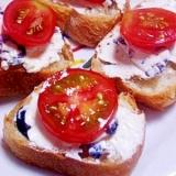 簡単 オリーブクリームチーズトマトカナッペ