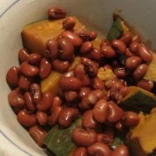 かぼちゃとささげ豆の塩煮