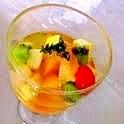 フルーツwithバニラシロップスープ