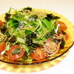 水菜のじゃこ海苔サラダ(和風ドレッシング)