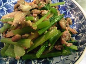 炒めキムチマヨ納豆