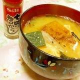 パンチ効かせて❤南瓜と玉葱のおみそ汁❤