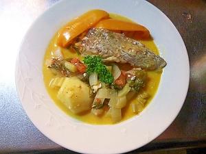 鯛の切り身でつくるブイヤベース鍋