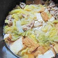 厚揚げと豚肉と白菜のほっくり煮物