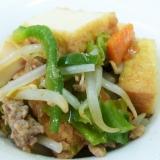 厚揚げと野菜の炒め物 焼肉のタレで味付け簡単