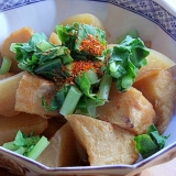 お魚食べてネ❤たこ天&大根の煮物♪(薩摩揚げ)