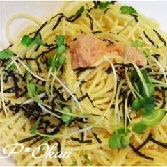 我が家の定番☆明太子スパゲティ