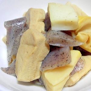 凍み豆腐と筍こんにゃくの煮物