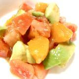 アボカドとトマト♪アマニ油で和えるシンプルサラダ