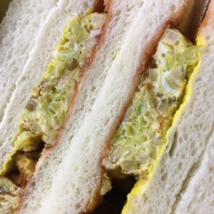 キャベツしめじ卵焼きサンドイッチ