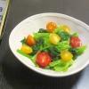 緑黄色野菜で!ほうれん草とプチトマトのサラダ