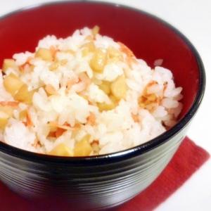 タケノコと紅海老の混ぜご飯