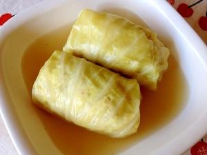 鶏肉と豆腐でヘルシー☆ロールキャベツ