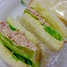 ツナとレタスのサンドイッチ