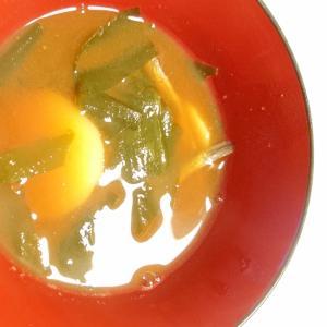 長芋と煮干し、わかめの味噌汁