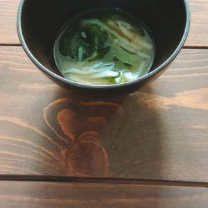切り干し大根とほうれん草の味噌汁
