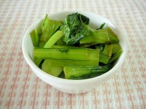 ☆小松菜の炒め物わさび醤油味☆