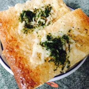 おつまみに!簡単油揚げのチーズ焼き
