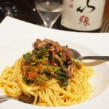 【富山食材】蛍烏賊と菜の花のスパゲッティーニ