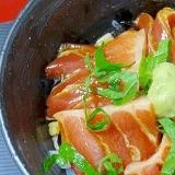卵のチカラ! 「まぐろ大トロ黄金ヅケ丼」