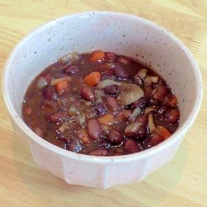 これとご飯で一食完成!菜食献立 豆と野菜の煮物