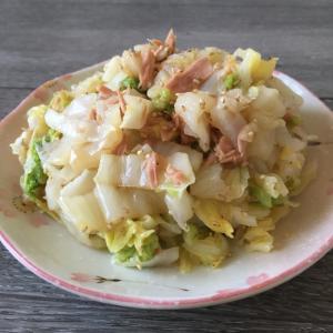 白菜とツナの中華和え