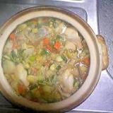 野菜たっぷり☆和風たら雑炊鍋