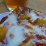 プチトマトとウインナーのトースト(о´∀`о)