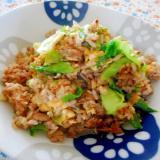 豚肉とレタスの生姜味噌チャーハン