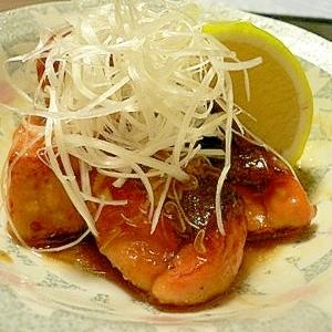 ポン酢で作る、塩麹鮭の焼き南蛮漬け♥