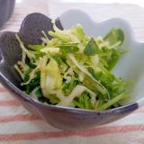 キャベツと豆苗のクミンピーナッツのサラダ