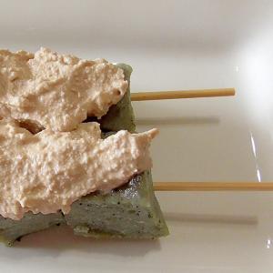 くるみダレが香ばし濃厚!よもぎ香る串団子